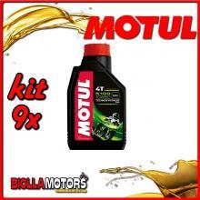 KIT 9X LITRO OLIO MOTUL 5100 4T 10W50 TECHNOSYNTHESE 100% SINTETICO PER MOTORI 4T - 9x 104074