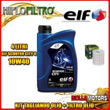 KIT TAGLIANDO 4LT OLIO ELF CITY 10W40 KAWASAKI KZ1000 A1,A2,A3,A4 1000CC 1977-1981 + FILTRO OLIO HF126