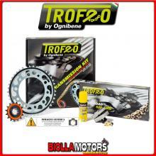 2554561445 KIT TRASMISSIONE TROFEO TRIUMPH 600 TT > 165717 (Ratio -3) 2004- 600CC