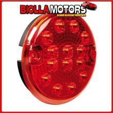 41527 LAMPA FANALE ROTONDO RETRONEBBIA LED, 12/24V