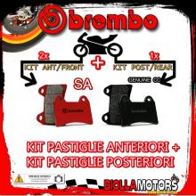 BRPADS-57115 KIT PASTIGLIE FRENO BREMBO MONDIAL PIEGA 2002- 1000CC [SA+GENUINE] ANT + POST