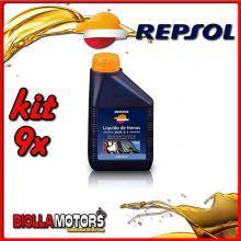 KIT 9X 500ML OLIO REPSOL LIQUIDO PER FRENO DOT 5.1 - 9x RI801B91IT