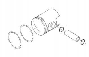 AP5RER000079 PISTONE COMPLETO D.42 ORIGINALE APRILIA SR 50 H2O (Ditech+Carb.) 2000-04
