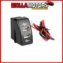 97962 LAMPA ORIGINAL-FIT, DOPPIA PRESA USB, 12/24V - DAF