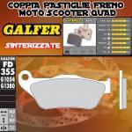FD355G1380 PASTIGLIE FRENO GALFER SINTERIZZATE ANTERIORI MBK MOTOBEKANE SKYCRUISER 06-09