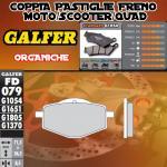 FD079G1054 PASTIGLIE FRENO GALFER ORGANICHE ANTERIORI SACHS BEE 125 08-
