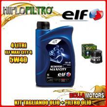 KIT TAGLIANDO 4LT OLIO ELF MAXI CITY 5W40 KAWASAKI EX500 D10 (GPZ500 S) 500CC 2003- + FILTRO OLIO HF204