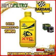 KIT TAGLIANDO 3LT OLIO BARDAHL XTC 15W50 MOTO GUZZI 1000 California II 1000CC 1982-1986 + FILTRO OLIO HF552