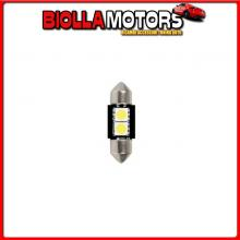98227 LAMPA 24/28V HYPER-LED 6 - 2 SMD X 3 CHIPS - 10X31 MM - SV8,5-8 - 2 PZ - D/BLISTER - BIANCO - DOPPIA POLARIT?