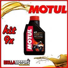 KIT 9X LITRO OLIO MOTUL 7100 4T 10W40 100% SINTETICO PER MOTORI 4T - 9x 104091