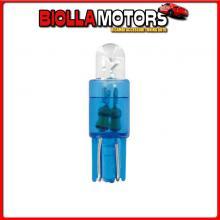 58412 PILOT 12V MICRO LAMPADA ZOCCOLO PLASTICA 1 LED - (T5) - W2X4,6D - 2 PZ - SCATOLA - BLU
