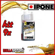 KIT 9X LITRO OLIO IPONE 2T 100% SINTETICO SAMOURAI ( 1 LITRO) - 409720975