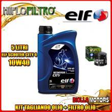 KIT TAGLIANDO 5LT OLIO ELF CITY 10W40 DUCATI 1200 Monster R 1200CC 2016- + FILTRO OLIO HF153