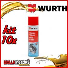 KIT 10x 500ML PULITORE PER FRENI SPRAY WURTH - 10x 0890117
