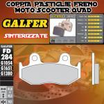 FD284G1380 PASTIGLIE FRENO GALFER SINTERIZZATE POSTERIORI YAMAHA YFZ 450 R DER/RIGHT 09-