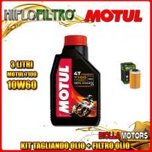 KIT TAGLIANDO 3LT OLIO MOTUL 7100 10W60 KTM 450 EXC 450CC 2012-2016 + FILTRO OLIO HF655