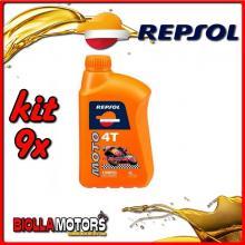 KIT 9X LITRO OLIO REPSOL MOTO RACING 4T 10W50 1LT - 9x RP160P51IT