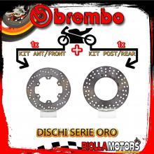 BRDISC-1696 KIT DISCHI FRENO BREMBO MBK SKYLINER 2000-2003 250CC [ANTERIORE+POSTERIORE] [FISSO/FISSO]