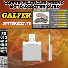 FD012G1371 PASTIGLIE FRENO GALFER SINTERIZZATE ANTERIORI TORNAX RX 80 82-