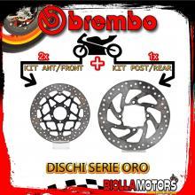 BRDISC-3008 KIT DISCHI FRENO BREMBO DUCATI DIAVEL 2011- 1200CC [ANTERIORE+POSTERIORE] [FLOTTANTE/FISSO]