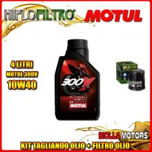 KIT TAGLIANDO 4LT OLIO MOTUL 300V 10W40 KTM 640 Duke 2nd Oil 640CC - + FILTRO OLIO HF156