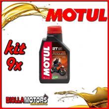 KIT 9X LITRO OLIO MOTUL Scooter Power 2T 100% Sintetico - 9x 105881