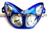 77201352A GRUPPO OTTICO ANTERIORE TNT blu anodizzato- Aerox/Nitro