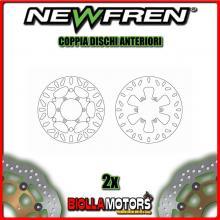 2-DF4090AF COPPIA DISCHI FRENO ANTERIORE NEWFREN MALAGUTI SPIDERMAX 500cc GT 2004-2005 FLOTTANTE