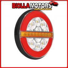 41547 LAMPA DYNAMIC O-LED, FANALE RETROMARCIA, 3 FUNZIONI, 12/24V - DESTRO