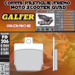 FD206G1054 PASTIGLIE FRENO GALFER ORGANICHE POSTERIORI MBK MOTOBEKANE NITRO 97-