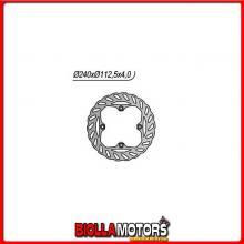 6591264X DISCO FRENO POSTERIORE NG BETAMOTOR RR EN (Mot.KTM) 250CC 2005/2007 1264X 240/130/112,1/4/4/9,5 (Fisso) X
