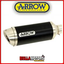 51507AON+51008MI TERMINALE ARROW STREET THUNDER KEEWAY RKV 127 2011-2017 DARK/INOX + COLLETTORE RACING
