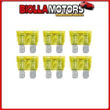 70185 LAMPA SMART LED, SET 6 FUSIBILI LAMELLARI CON SPIA A LED, 12/32V - 20A