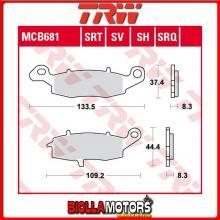 MCB681 PASTIGLIE FRENO ANTERIORE TRW Kawasaki ZRX 400 1996-1997 [ORGANICA- ]