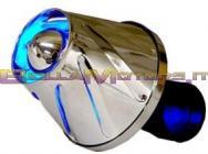 STR-334.10/BL FILTRO HELIX CROMATO LED BLU INTERNI ATTACCO 28-38 DRITTO +CURVA90