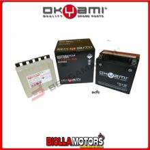 E07062 BATTERIA OKYAMI YTX14-BS SIGILLATA CON ACIDO YTX14BS MOTO SCOOTER QUAD CROSS