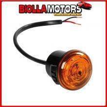 98390 LAMPA LUCE PERIMETRALE DA INCASSO A 1 LED, 12/24V - ARANCIO