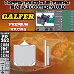FD262G1651 PASTIGLIE FRENO GALFER PREMIUM ANTERIORI DERBI MULHACEN 650 06-