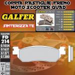 FD214G1371 PASTIGLIE FRENO GALFER SINTERIZZATE POSTERIORI MBK MOTOBEKANE SKYCRUISER ABS 11-