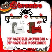 BRPADS-43076 KIT PASTIGLIE FRENO BREMBO HONDA A-ADV 2017- 700CC [LA+SP] ANT + POST