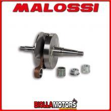 5316082 ALBERO MOTORE MALOSSI VESPA PX E 200 2T Ø 16 BIELLA 110 (CORSA 57MM) VALVOLA ROTANTE