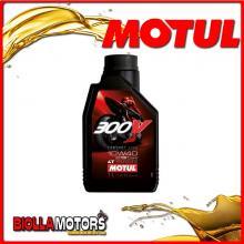 104118 1 LITRO OLIO MOTUL 300V FACTORY LINE ROAD RACING 10W40 100% SINTETICO PER MOTORI 4T