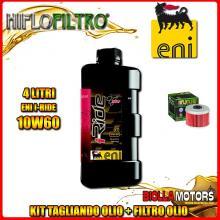 KIT TAGLIANDO 4LT OLIO ENI I-RIDE 10W60 TOP SYNTHETIC HONDA CBF250 250CC 2004-2006 + FILTRO OLIO HF113