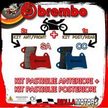 BRPADS-35026 KIT PASTIGLIE FRENO BREMBO HONDA CBR F ABS 2011- 600CC [SA+CC] ANT + POST