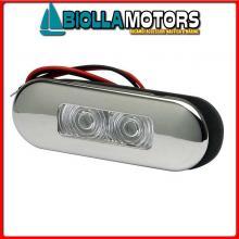 2143015 LUCE POZZETTO LED ELLIPTIC INOX Luce Impermeabile LED Elliptic Flush Inox