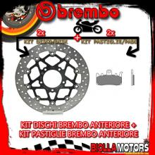KIT-0OLZ DISCO E PASTIGLIE BREMBO ANTERIORE MV AGUSTA RIVALE 800CC 2013- [RC+FLOTTANTE] 78B40893+07BB38RC