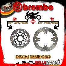 BRDISC-3990 KIT DISCHI FRENO BREMBO KAWASAKI Z 800 2013- 800CC [ANTERIORE+POSTERIORE] [FLOTTANTE/FISSO]