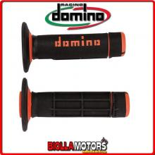 A02041C4540A7-1 COPPIA MANOPOLE NERO/ARANCIO OFF ROAD DOMINO KTM 50 S 50CC 16 63002021100