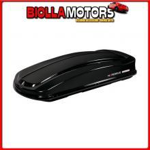N60025 NORDRIVE BOX 530D, BOX TETTO IN ABS, 530 LITRI, DOPPIA APERTURA - NERO LUCIDO