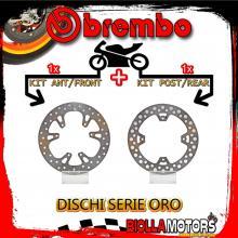 BRDISC-720 KIT DISCHI FRENO BREMBO HM CR F ENDURO 2004-2010 230CC [ANTERIORE+POSTERIORE] [FISSO/FISSO]